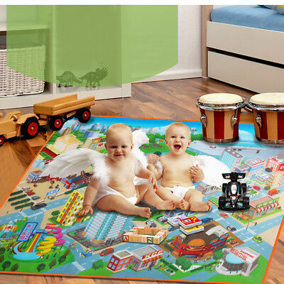 Kids Car Road Carpet City Road Play Mat Childrens Rug Toy Playmat