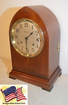 Seth Thomas Restored Antique 8 Bell Sonora Chime Clock 266 - 1914 In Mahogany