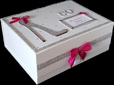 50TH BIRTHDAY GIFT Large PERSONALISED Memory Box Hen Party Pink More