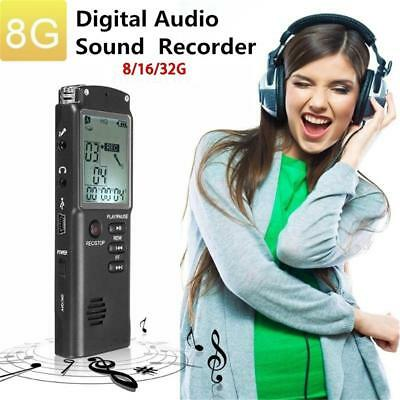 8/32G Rechargeable Digital Audio Sound Voice Recorder Pen Dictaphone MP3 Player