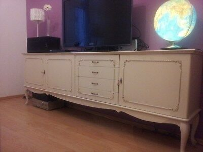Sideboard, Kommode,Chippendale Style Vintage, weiß, shabby chic