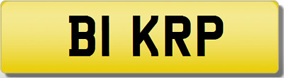 KRP BI BIK RP KP B1 #1 FIRST 81 1981 Private Cherished Registration Number Plate