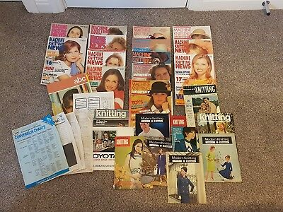 Large Job Lot/ Collection Of Knitting Machine Magazines. Vintage Retro...
