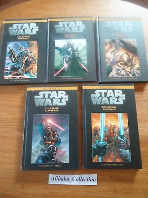 Lot ** 5 Bd Comics Star Wars Clone Wars 1 2 3 4 5 ; 26 27 28 29 30 Hachette **