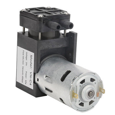 DC24V Mini Small Oilless Vacuum Pump -85KPa Flow 40L/min for Gas Air UK  42W