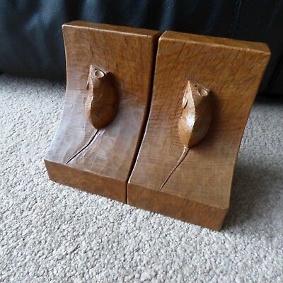 Lovely Vintage Mouseman bookends.