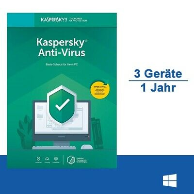 Kaspersky Anti-Virus 2019, 3 PC - 1 Jahr, ESD, Download