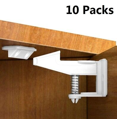 Kids Baby Safety Lock Protection Drawer Cabinet Invisible Spring Security New