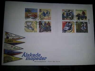 Sweden: 2005 Mopeds set of 2 blocks on First Day Cover. High retail.Scarce&Cheap