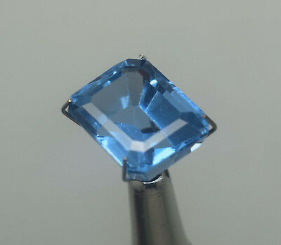 10.40 Ct Natural Blue Color Transparent Aquamarine Emerald Cut Ggl Certified