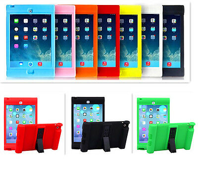2019 Kids Shockproof Silicone Stand Case Cover for iPad 2/3/4 Air2 Mini Pro 9.7