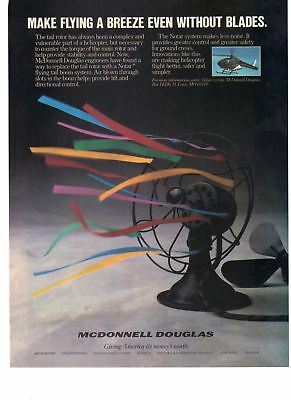1988 McDonnell Douglas Makes Flying a Breeze Notar System Airplane Print Ad