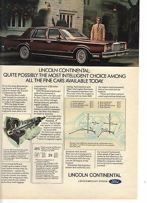 1980 Car vintage print ad Lincoln Continental Automatic Overdrive Transmission