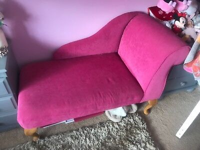Deluxe Vintage Style Material  Chaise Longue - Pink