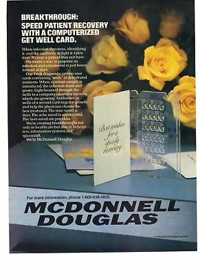 1986  McDonnell Douglas Computerized Get Well Card Breakthrough Vintage Print Ad