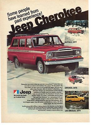 1980 Car vintage print ad Jeep Cherokee People Learned From Past Experience