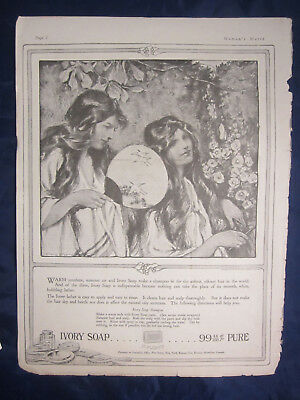1917 Antique Print Ad Ivory Soap 99 44/100% Pure Soap Shampoo 100 Years Old