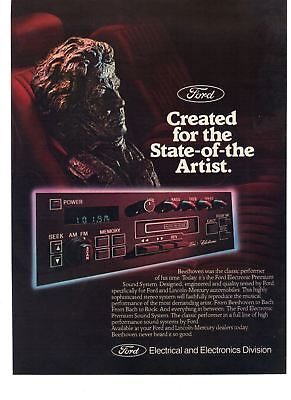 1983 Vintage Car Print Ad Ford Electronics Created for the State-of-the Artist