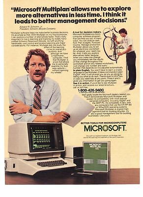 1983 Vintage Print Ad Microsoft Multiplan Better Tools for Microcomputers