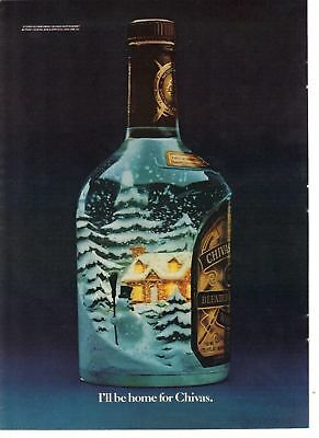 1982 Old Vintage Print Ad: Chivas Blended Scotch - I'll Be Home For Chivas