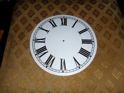 "Round Paper Clock Dial - 5"" M/T - Roman - MATT WHITE - Face/Clock Parts/Spares"