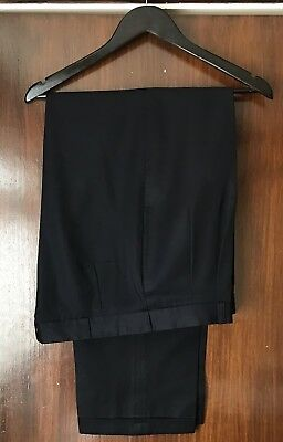 50's Style Pleated Trousers With Turn Ups (Black)