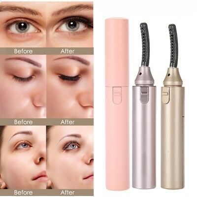 Electric Heated Eyelash Curling Long Lasting Eye Lashes Curler Makeup Tool +comb