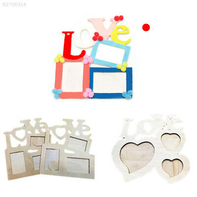 0B0D Fashion Lovely Wooden Love Hollow Photo Picture Frame Family Home Decor Art