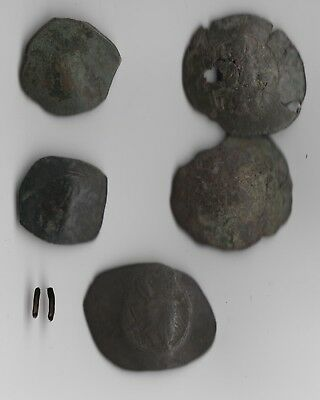 Ancient Byzantine Empire, 5 Bronze Cup Coin Lot 11