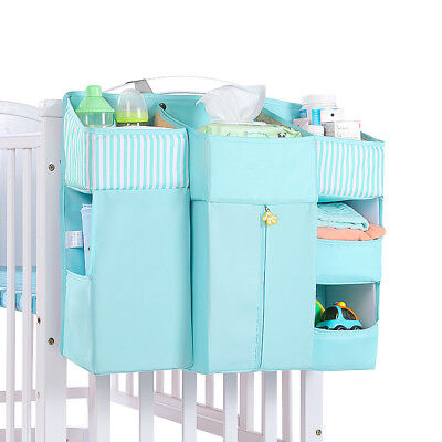 Baby Crib Cot Bed Hanging Storage Bag Nursery Diaper Nappy Clothes Organizer New