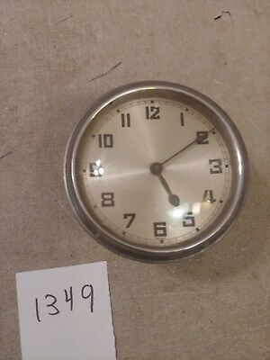Foreign Mini Tambour Mantle Clock Movement & Hands & Glass With Sleeve