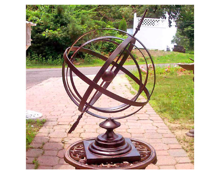 Vintage Armillary Sphere Nautical Decor Globe Antique Base Collectible Large 24""