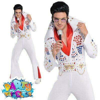 Adult King of Vegas 50s Costume Mens Celebrity Fancy Dress Outfit