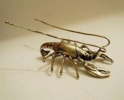 rare Russian imperial 84 Silver Crayfish Faberge design