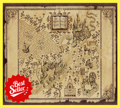 HARRY POTTER HOGWARTS map Map Of The Wizarding World Of Harry Potter ...