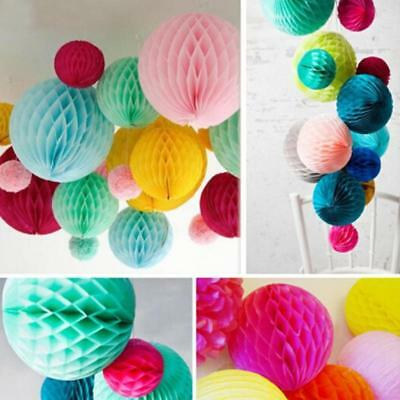 Honeycomb Paper Tissue Balls Vintage Wedding Party Hanging Ornament one