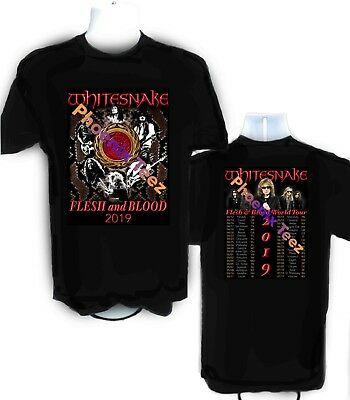 Whitesnake 2019 Flesh and Blood World Concert Tour t shirt  S to 6X
