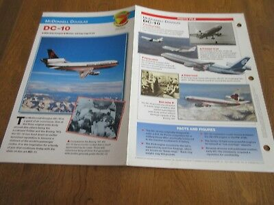 Aircraft of the World Card #13 group 2 McDONNELL DOUGLAS DC 10 AIRLINERS