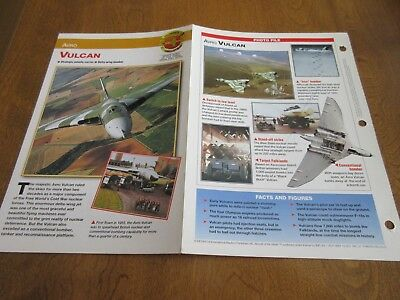 Aircraft of the World Card #1 group 4 AVRO VULCAN WARPLANES 50s to 70s