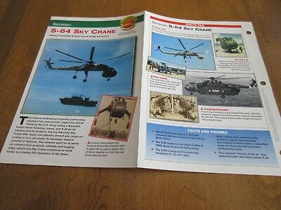 Aircraft of the World Card #11 group 3 S-64 SKY CRANE HELICOPTERS