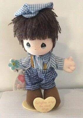 Precious Moments  Applause 1990 Nicky Plush Doll Vintage with Stand