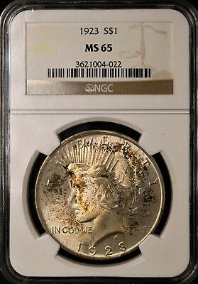1923 Peace Silver Dollar - NGC MS65 - GEM BRILLIANT UNCIRCULATED - #004-022