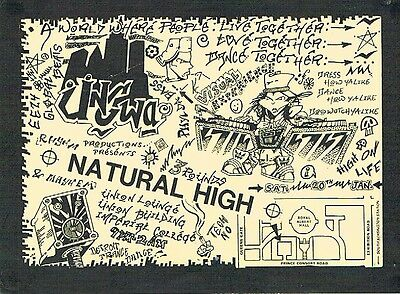 NATURAL HIGH Rave Flyer Flyers 20/1/90 A5 Imperial College London Acid House