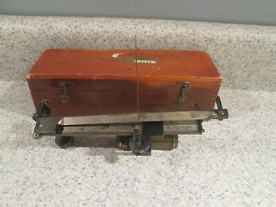Vtg Keuffel And Esser Co New-York United States Forest Service Meter In Wood Box