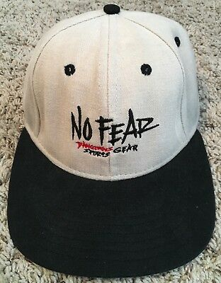 02c85b9f86c Vintage 90s No Fear Snapback Hat USA Cap Retro Dangerous Sports Gear