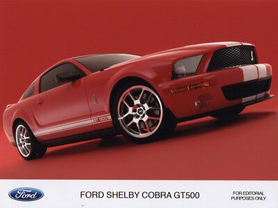 Ford Shelby Cobra GT500 Period Press Photograph