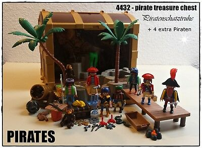 Playmobil Piraten Set 4432 Piraten-Schatztruhe + 4 extra Piraten