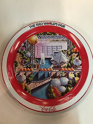 1982 Worlds Fair Collectibles Knoxville TN Tin plater Coca Cola Tray Sealed!