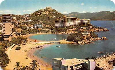 Acapulco Mexico Hotel Caleta Beach Hotels Roadside C1950 S Chrome Postcard