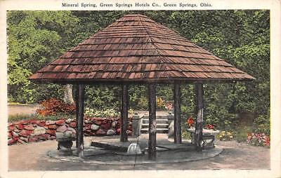 GREEN SPRINGS, OH Ohio   MINERAL SPRING~Green Springs Hotels  1927 Postcard